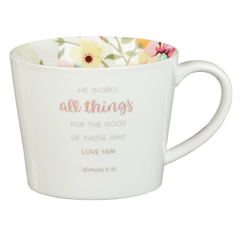 MUG534  All Things Coffee Mug - Romans 8:28