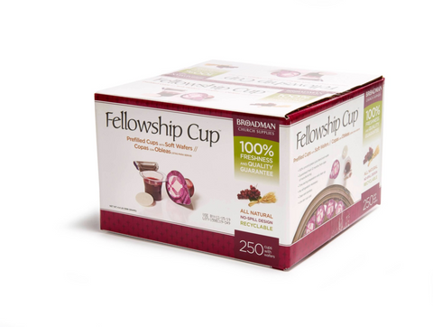 Fellowship Cup Prefilled Communion Cup with Wafer Box of 250  聖餐套裝 250 件裝(聖餐餅連葡萄汁)