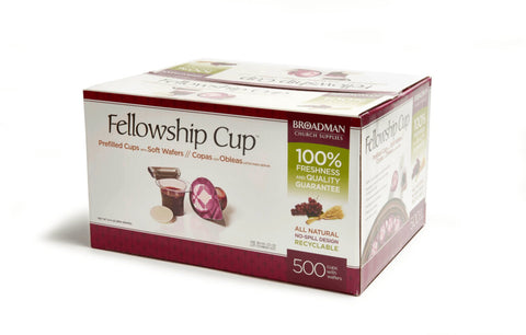 Fellowship Cup Prefilled Communion Cup with Wafer Box of 500   聖餐套裝 500 件裝(聖餐餅連葡萄汁)