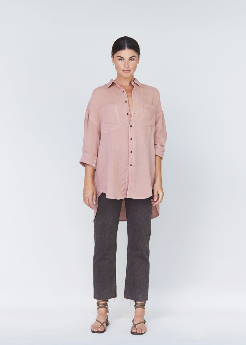 SANTA FE COTTON GAUZE BUTTON DOWN - RESORT 2021