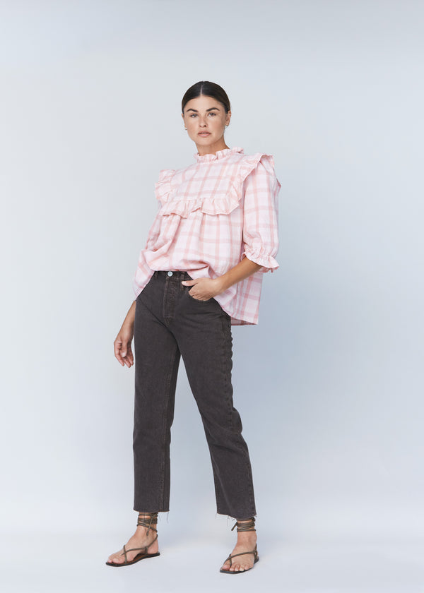LEBLON COTTON LINEN TOP - RESORT 2021