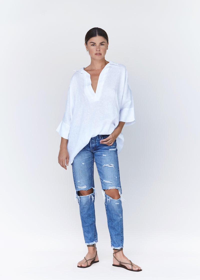 TAOS LINEN TOP - RESORT 2021