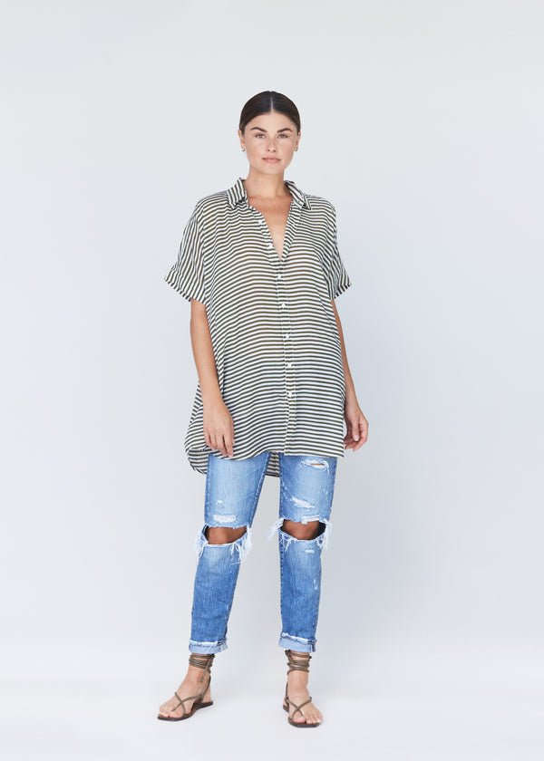 MOMBASA TENCEL BUTTON DOWN - RESORT 2021