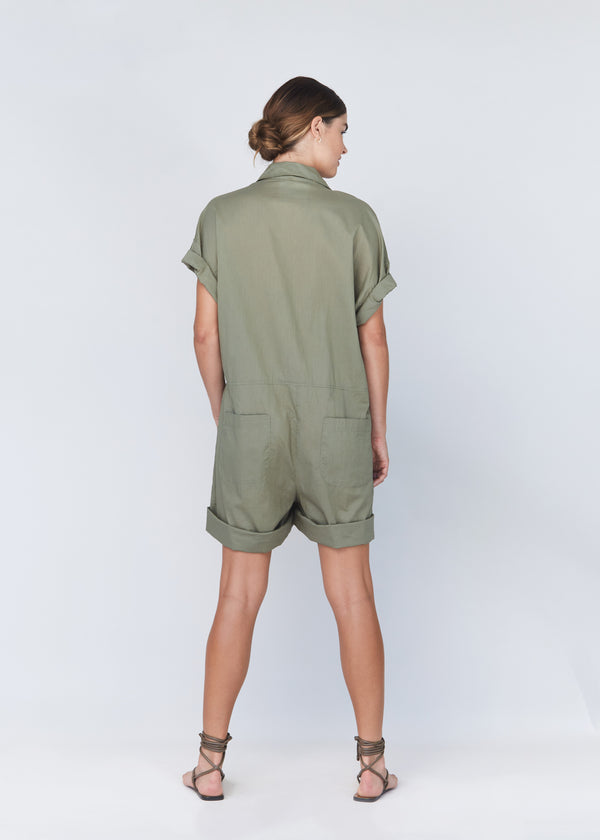 OLIVER COTTON LINEN JUMPSUIT - RESORT 2021