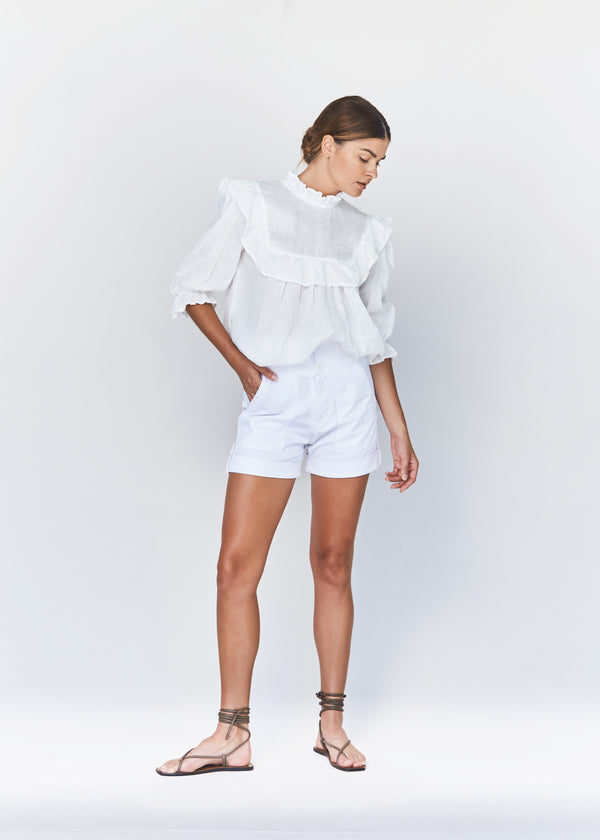 LEBLON LINEN TOP - RESORT 2021