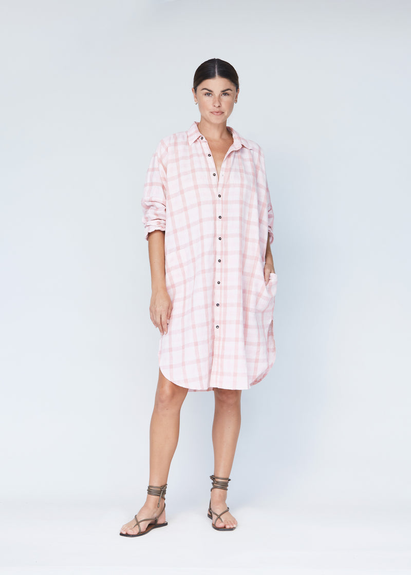 REMI COTTON LINEN DRESS - RESORT 2021