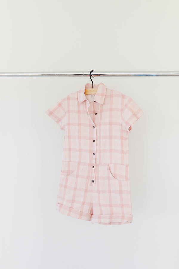 KIDS OLIVER COTTON LINEN JUMPSUIT - RESORT 2021