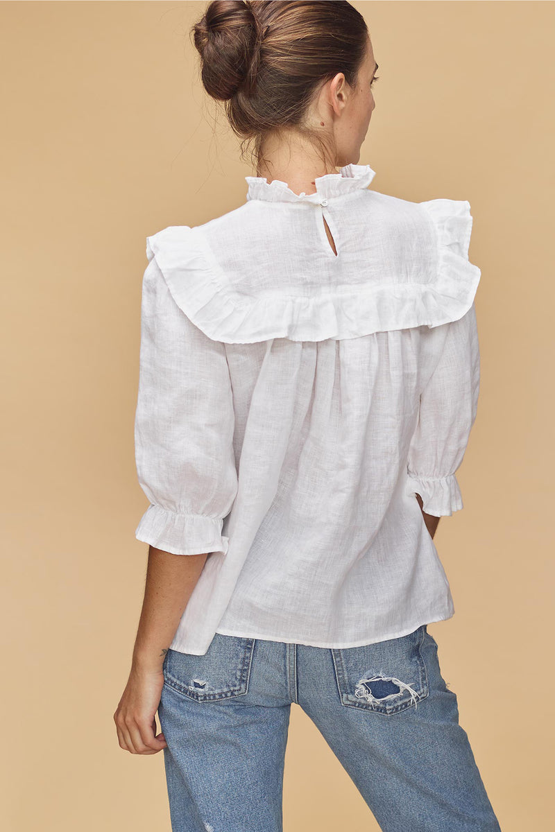 LEBLON LINEN TOP - RESORT 2020