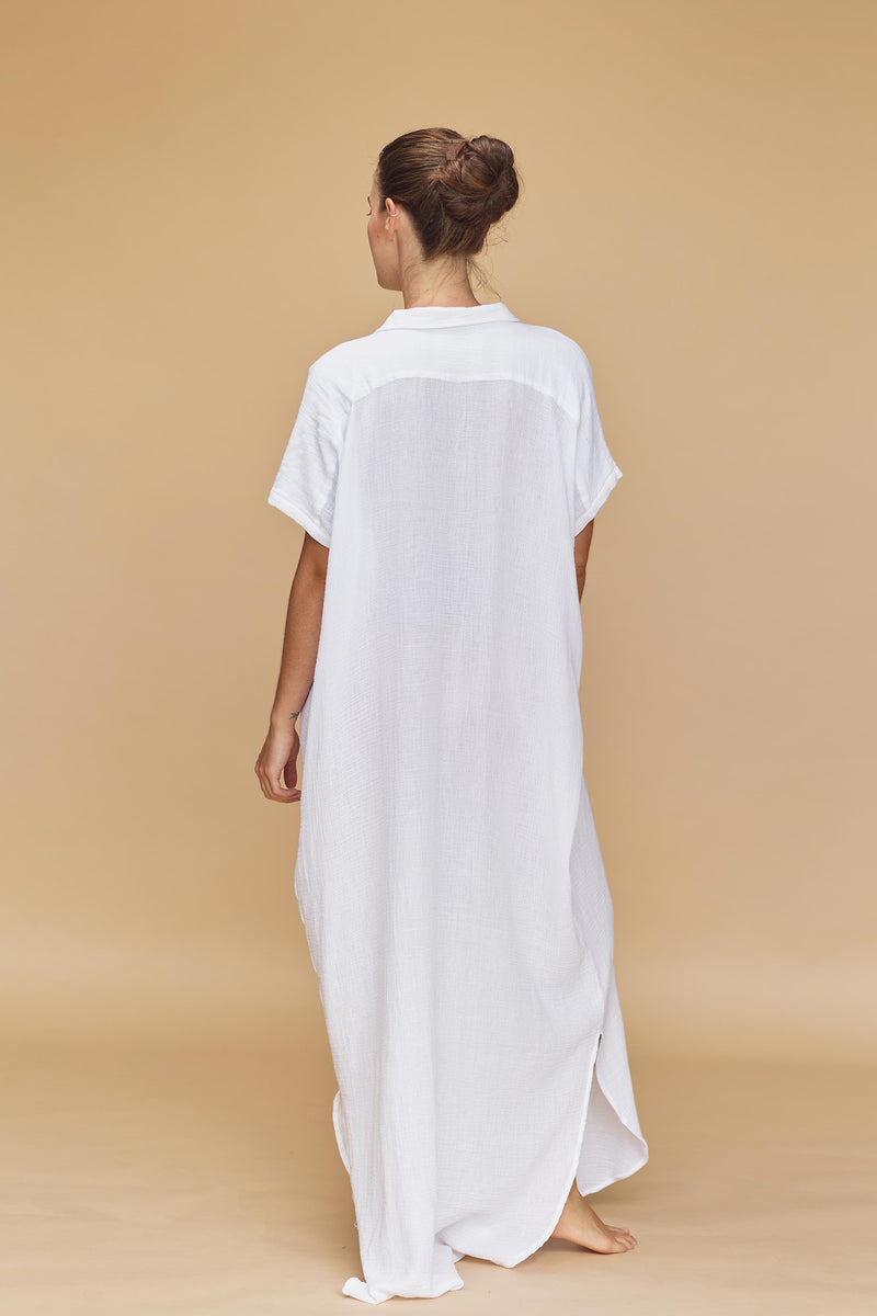 OAHU COTTON GAUZE DRESS - RESORT 2020