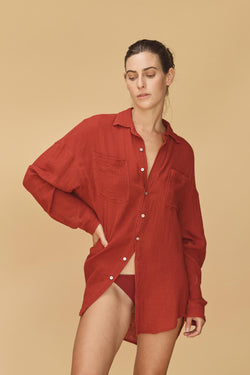 SANTA FE COTTON GAUZE BUTTON DOWN - RESORT 2020