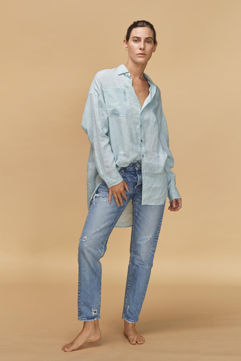 SANTA FE LINEN BUTTON DOWN - RESORT 2020