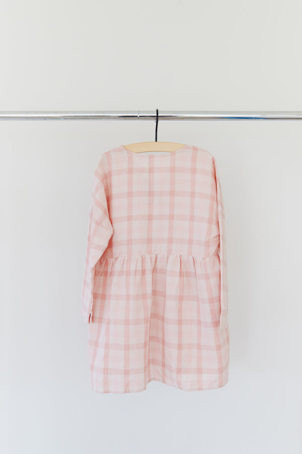 KIDS SOMA COTTON LINEN DRESS - RESORT 2021