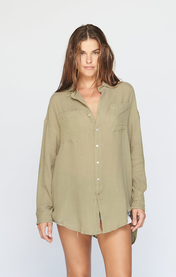 SANTA FE COTTON GAUZE BUTTON DOWN - PRE FALL 2020