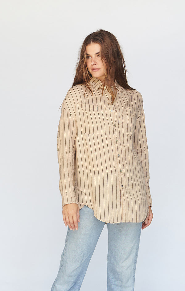 SANTA FE LINEN BUTTON DOWN - PRE FALL 2020