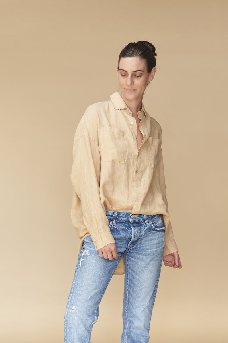 SANTA FE LINEN BUTTON DOWN - SPRING 2020