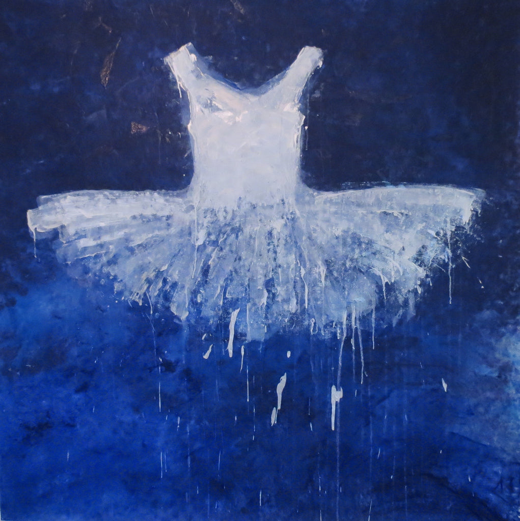 WHITE DRESS IN BLUE SKY - SOLD