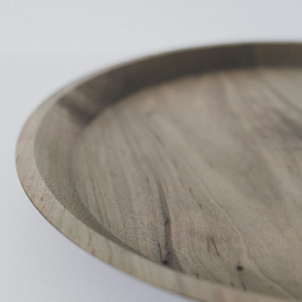 Superieur ... Large Round Grey Wooden Tray ...