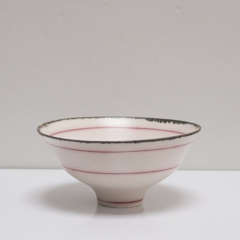 Stripe Pink Porcelain Bowl