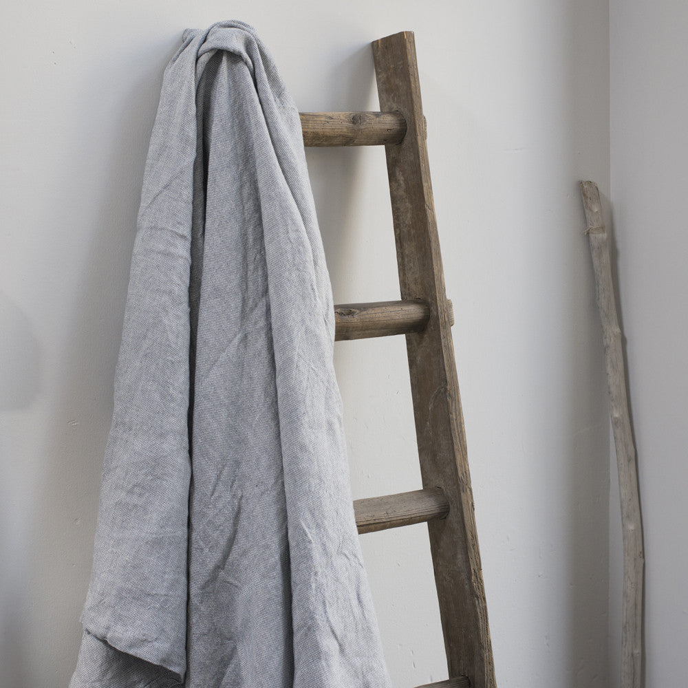 Grey Chambray Linen Blanket