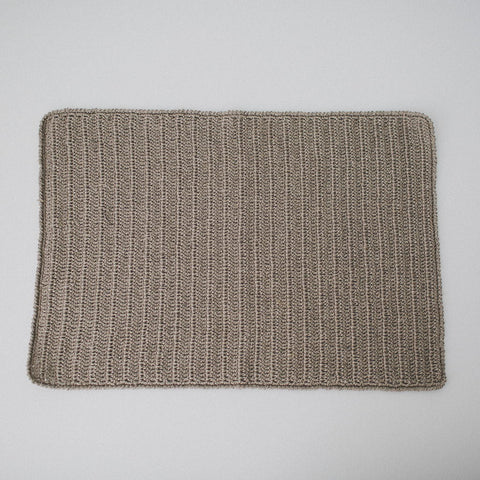 100% Linen Crochet Placemats / Natural