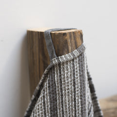 Linen Waffle Stripe Grey and Whte