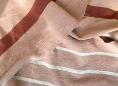 Blush Pink Throw/ White Stripe 11