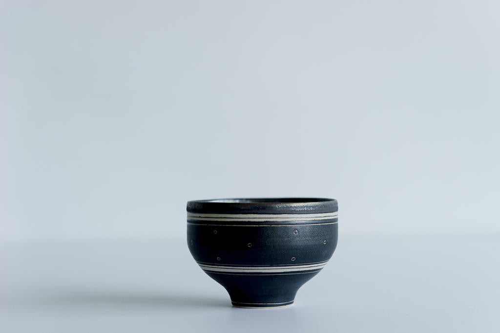 Brown Stripe Chawan Bowl