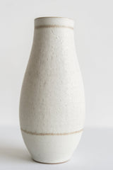 Semmon Flower Vase / White / Brown Rim