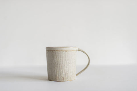 Semmon Mug / White / Brown Rim