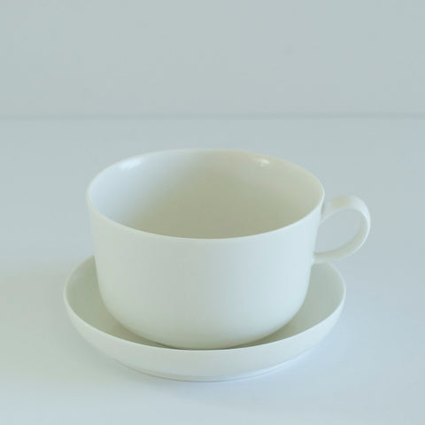 RelRabo Cups & Saucer / White