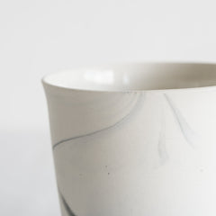Marble Porcelain Cup Large / White and Grey