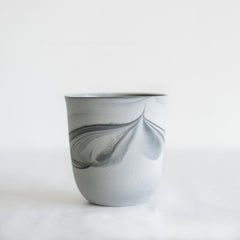 Marble Porcelain Cup Large / Grey and Charcoal