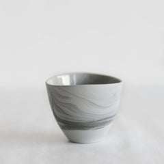 Marble Porcelain Cup Small / Grey and Charcoal