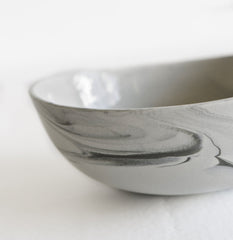 Marble Porcelain Bowl / Grey and Charcoal