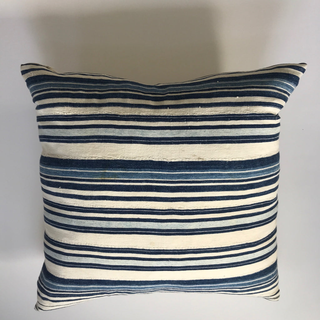 African Vintage  Indigo Light Stripe White 1 / Linen