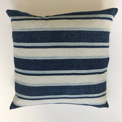 African Vintage  Indigo Light Stripe White 11 / Linen