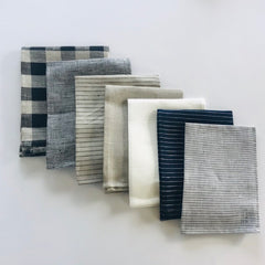 Linen Dish Towel Grey Stripe