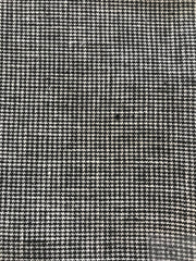 Linen Dish Towel Black Houndstooth