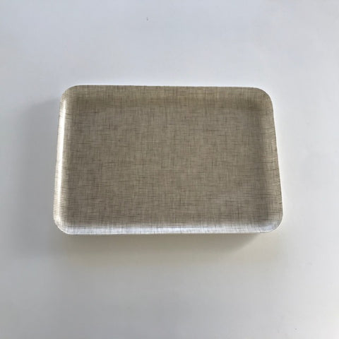 Linen Coated Rectangle Natural/ White Medium