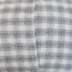 Stone Wash Bed Cushion White Check / Long