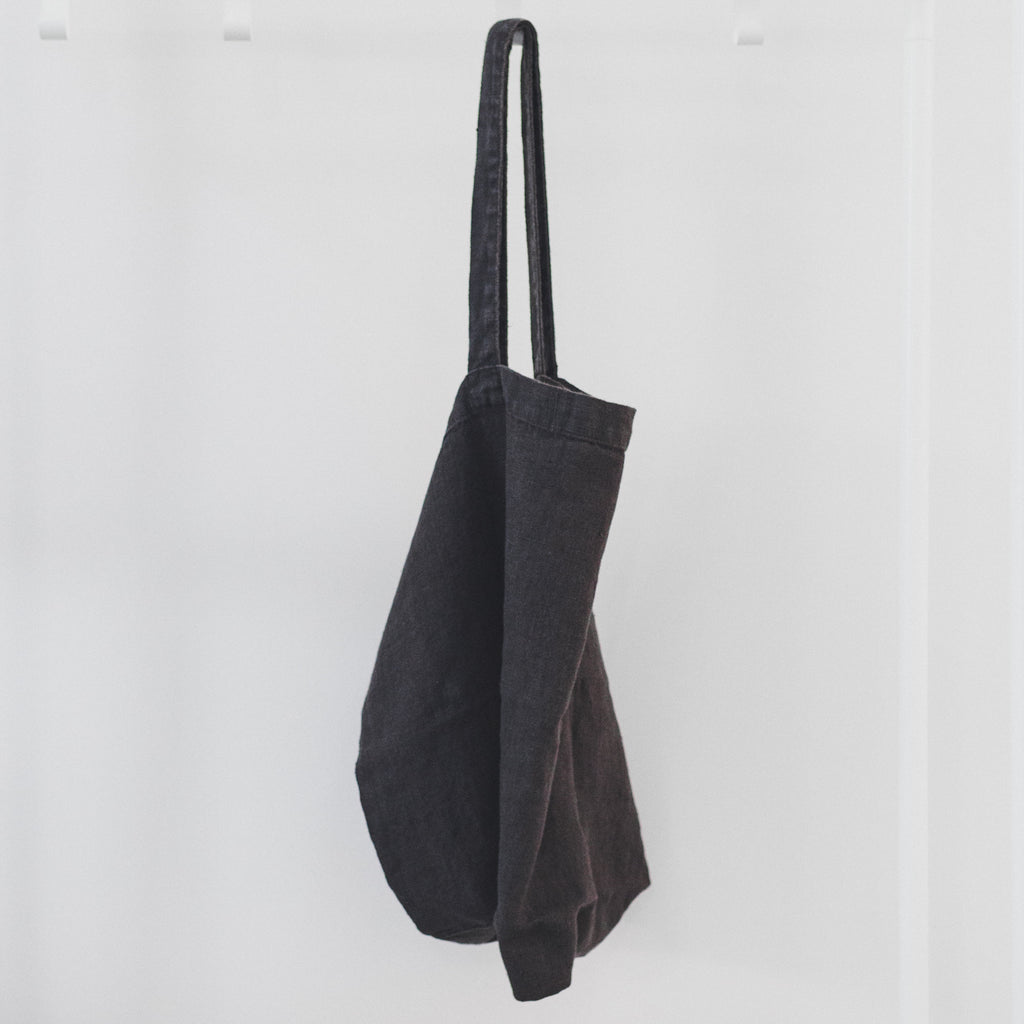 Stone Washed Linen Bags / Charcoal