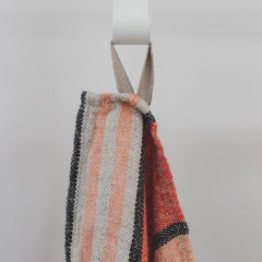 Stone Washed Linen Dish Towel / Peach