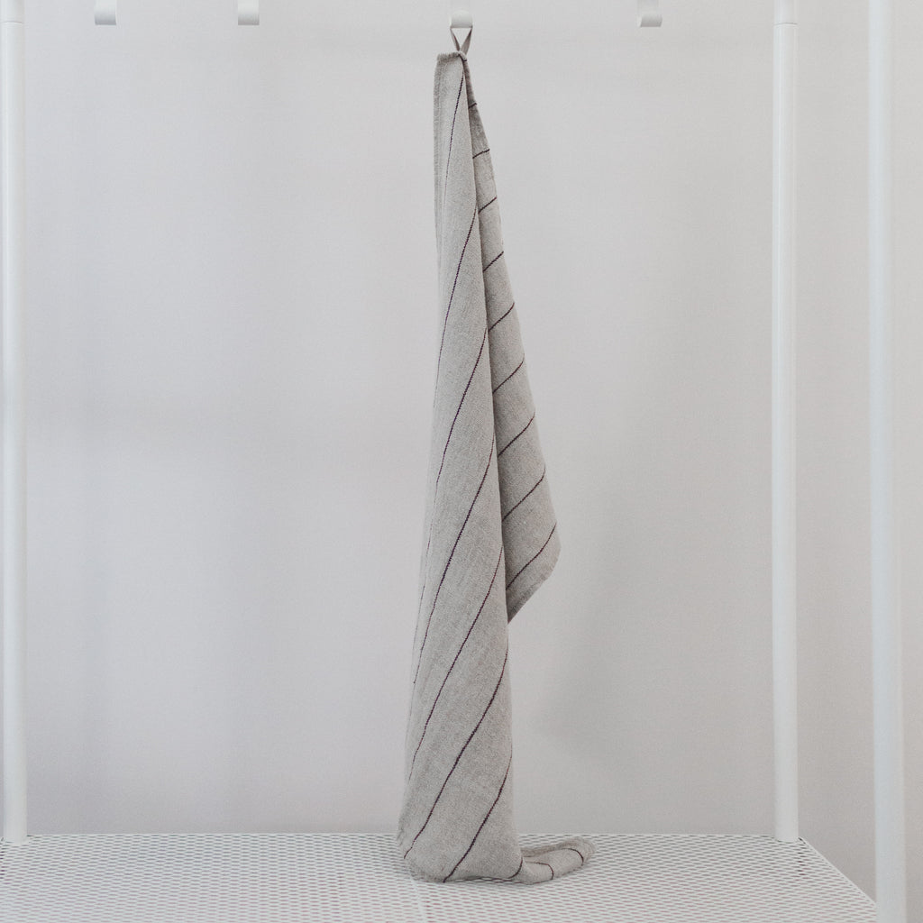 Stone Washed Linen Dish Towel / Natural