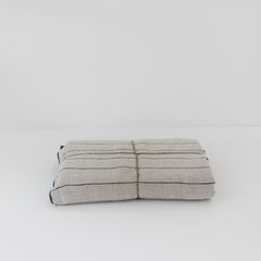 Stone Wash Linen Natural Stripe Tablecloth