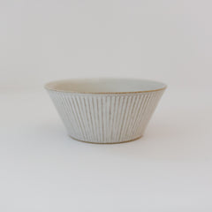 Trapetized Shinogi Bowl White