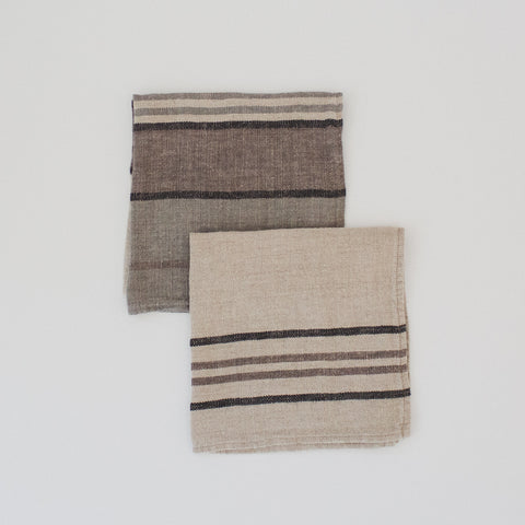 Stone Washed Linen Napkin Stripe / Grey 1 & 11