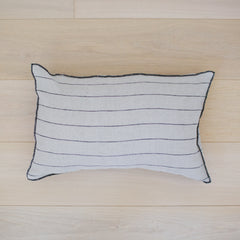 Stone Wash Bed Cushion Stripe Natural / Small