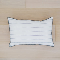 Stone Wash Bed Cushion Stripe White / Small