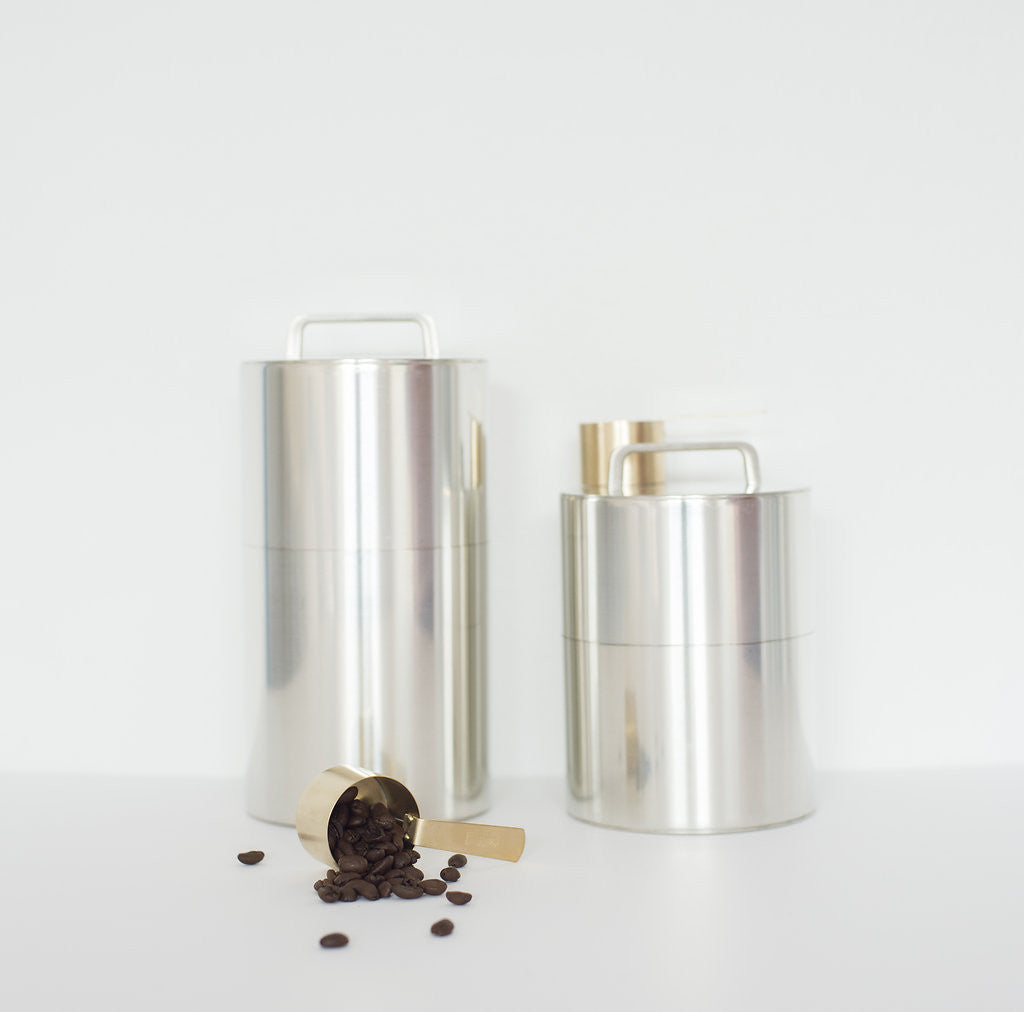 Tall Tin Coffee Caddy