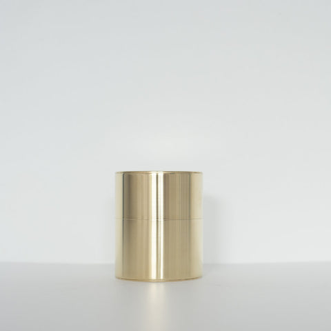 Wide  Brass Tea Caddy